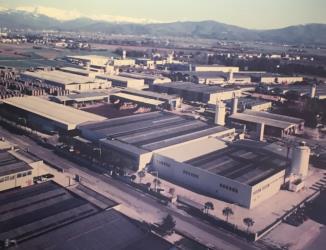 Panoramica dello stabilimento Saccavini di Premariacco